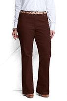 Lands' End Women's Plus Size Pre-hemmed Fit 2 Corduroy Bootleg Pants-Raisin