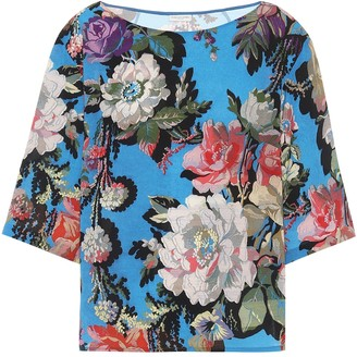 Dries Van Noten Floral-printed top