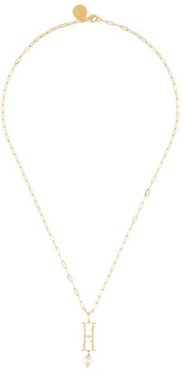 Simone Rocha H pearl initial necklace