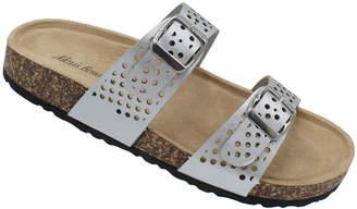 Alexis Bendel Women's Sandals SILVER - Silver Dual Strap Peggy Sandal - Women
