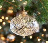 Pottery Barn Lit Twist Glass Ornament - Wide Onion