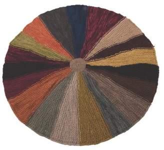 Ian Snow Knitted Circular Pinwheel Rug