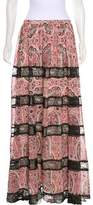 Alice + Olivia Lace-Trimmed Maxi Skirt