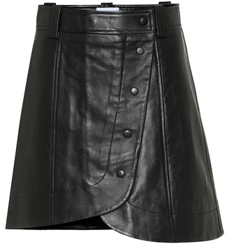 Ganni Leather miniskirt