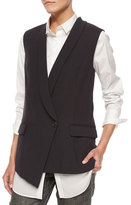 Brunello Cucinelli Asymmetric One-Button Vest