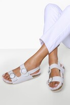 Thumbnail for your product : boohoo Fur Lined Dad Sandal