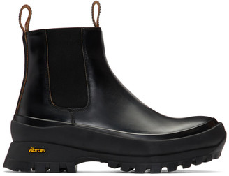 Jil Sander Black Rubber Sole Boots