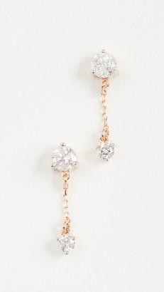 Adina 14k Gold Diamond Amigos Chain Post Earrings
