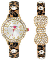Betsey Johnson Betseys Holiday Leopard Watch Set