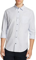 Vince Distressed Stripe Slim Fit Button-Down Shirt