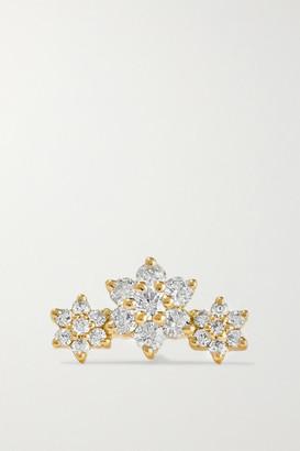 Maria Tash Flower Garland 3mm 18-karat Gold Diamond Earring - one size