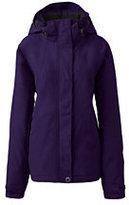 Lands' End Women's Petite Hooded Squall Jacket-Deep Scarlet