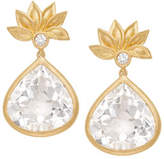 Jamie Wolf Lotus Flower White Topaz & Diamond Earrings
