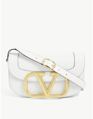 Valentino Supervee medium leather cross-body bag