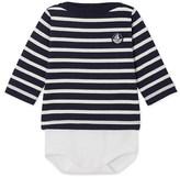 Petit Bateau Babys long-sleeved sailor-style bodysuit