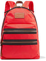 Marc Jacobs Biker Leather-trimmed Shell Backpack - Red