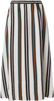 Roberto Collina striped midi skirt