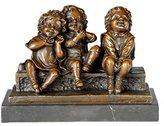 Toperkin Three Play Children Sculpture Bronze Kids Statue Indoor Art Home Decoration Sculptures TPE-617