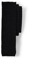 Lands' End Men's Classic Silk Knit Necktie-Black