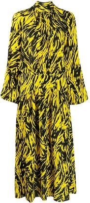 No.21 animal print flared dress