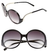 Chloé Women's 'Emilia' 57Mm Round Sunglasses - Black