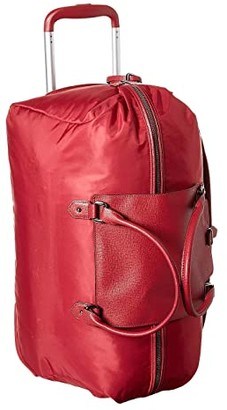 Lipault Paris Plume Avenue Wheeled Duffel Bag (Garnet Red) Bags