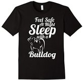 Bulldog Men's Feel safe at night Sleep with a Shirt Medium
