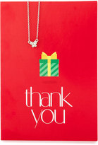 Lydell NYC Butterfly Necklace with Thank You Card