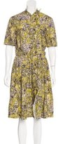 Cacharel Abstract Print Button-Up Dress
