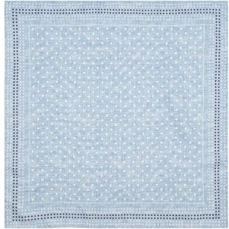 Brunello Cucinelli Polka-dot And Houndstooth Silk Pocket Square - Blue Multi