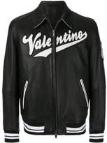 Valentino varsity leather bomber jacket