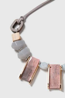 Wallis Mixed Bead Statement Collar