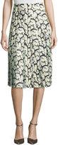 ADAM by Adam Lippes High-Waist Floral-Print Combo Skirt, Mini Dahlia