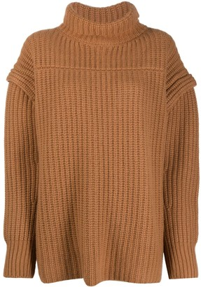 LOULOU STUDIO Ribbed Roll-Neck Sweater