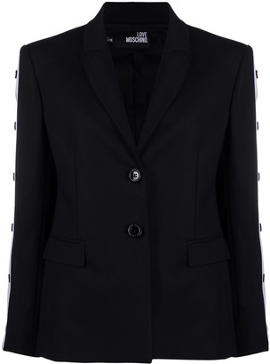 Love Moschino Contrast Trim Tailored Blazer