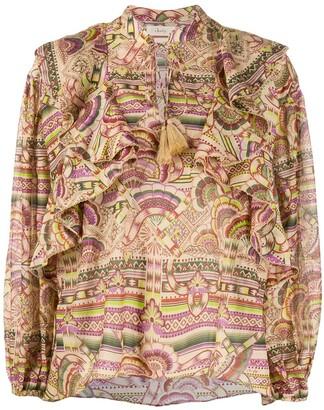CHUFY Nina print blouse