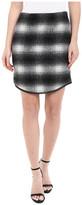 Karen Kane Plaid Curved Hem Skirt