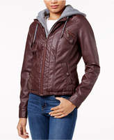Joujou Jou Jou Juniors' Faux-Fur-Lined Faux-Leather Jacket