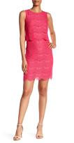 Anne Klein Sleeveless Lace Popover Dress