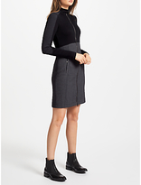 Marc Cain Contrast Zip Dress, Charcoal