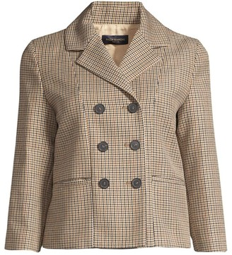Piazza Sempione Lifestyle Double-Breasted Tweed Jacket