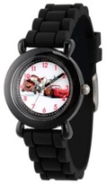 Thumbnail for your product : EWatchFactory Disney Cars Mater and Lightning McQueen Boys' Black Plastic Time Teacher Watch