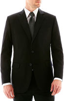 JCPenney Stafford Executive Super 100 Wool Black Stripe Suit Jacket - Classic