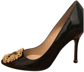 Manolo Blahnik Hangisi Black Patent leather Heels