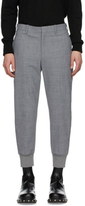 Neil Barrett Grey Wool Cuffed Trousers