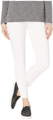 Lucky Brand Mid-Rise Ava Skinny Jeans in Clean White (Clean White) Women's Jeans