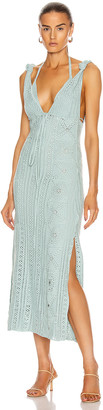 Jonathan Simkhai Remi Hand Crochet Dress in Seafoam | FWRD