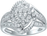 JCPenney FINE JEWELRY 1 CT. T.W. Diamond 10K White Gold Cluster Ring