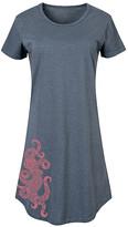 Instant Message Women's Women's Tee Shirt Dresses HEATHER - Heather Blue Henna Octopus Short-Sleeve Dress - Women & Plus
