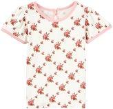 Kickee Pants Print Puff Tee (Baby) - Natural Rose Trellis-6-12 Months